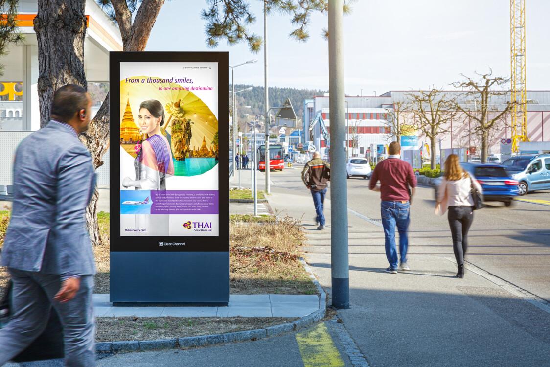 Plakat an der Rudolfdieselstrasse in Zürich - Digitale Werbung auf Screen in Zürich – mit Plakat kaufkräftige Zielgruppe erreichen – Branding für Luxusprodukte,  hohe Reichweite, Flexibilität, dynamische Aussteuerung